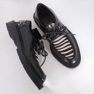 Zara Shoes Zebra Print & Spiked Heel Euro Size 41